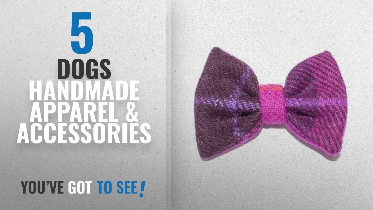 Top 10 Dogs Handmade Apparel & Accessories [2018]: Bowzos Bow - Harris  Tweed Fuschia Check