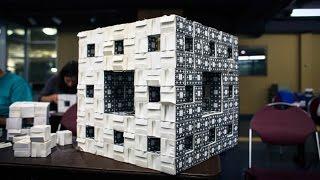 Mega Menger: Building a Menger Sponge at MIT