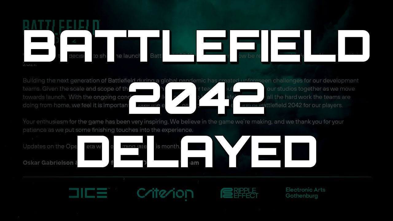 Battlefield 2042 delayed by nearly a month