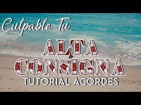 Culpable Tu - Alta Consigna - Tutorial - ACORDES - Como tocar en Guitarra