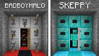 Skeppy Vs BadBoyHalo ESCAPE ROOM Build Battle - Minecraft