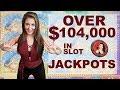 watch he video of $104,000 in Slot Machine Jackpots - Handpays EVERYWHERE | Casino Madness