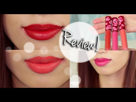 Lime Crime Velvetine Lip Swatches & Review - YouTube