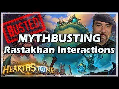 MYTHBUSTING Rastakhan Interactions - Rastakhan's Rumble Hearthstone