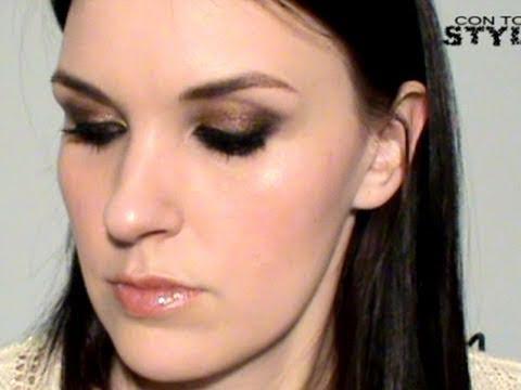 Maquillaje Dorado y Bronce