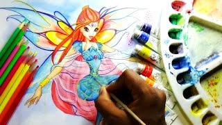 how to draw and paint princess bloom from winx club bloomix