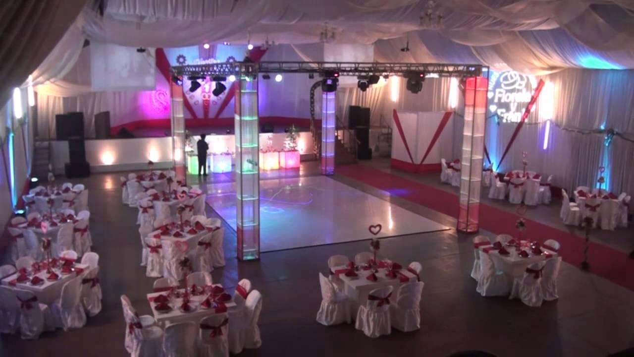 Sal n de recepciones cesar vallejo decoraci n en rojo par for Decoracion salon boda