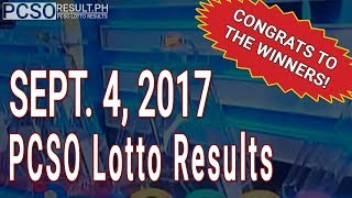 PCSO Lotto Results Today September 4, 2017 (6/55, 6/45, 4D, Swertres & EZ2)