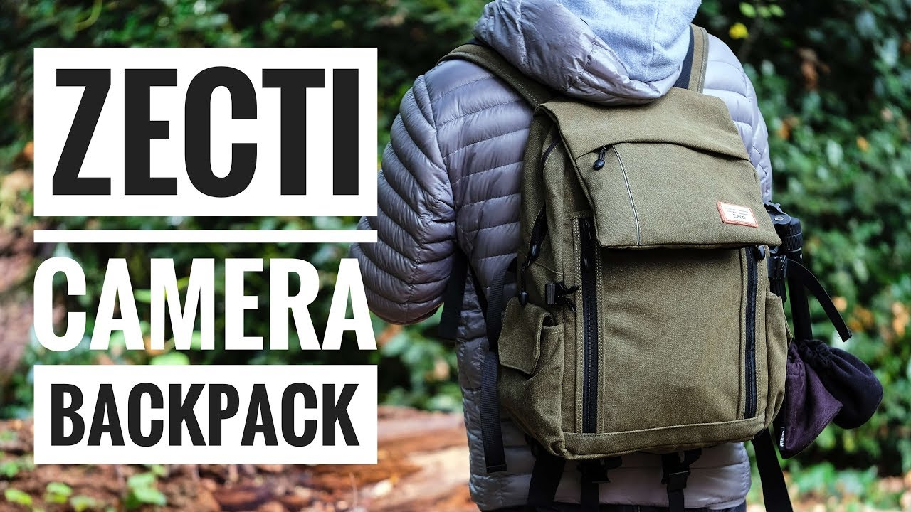 004a6bb8f336 Zecti Waterproof Canvas Camera Backpack - YouTube