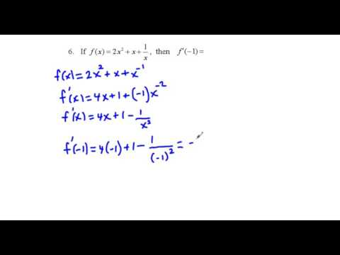 AB Calculus AB 1st 6 Weeks Test Review