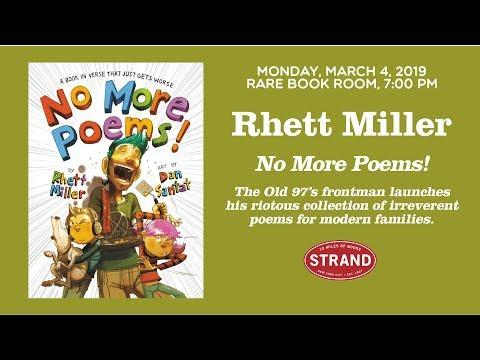 Rhett Miller | No More Poems!