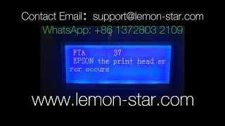FTA37 fta 37 epson byhx dx5 printer error fix within 2 mins