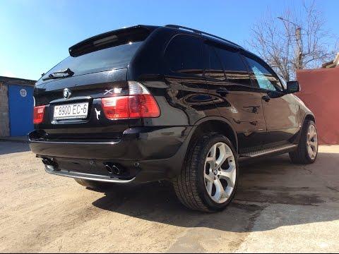 BMW X5 - умер аккум и новые тапочки.