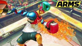 ARMS: ¡PROBANDO A SPRING MAN! | Nintendo Switch