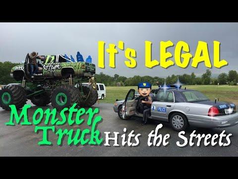 Monster Truck Joyride's on public road - Cop got us