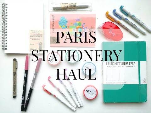PARIS STATIONERY HAUL + SPECIAL ANNOUNCEMENT