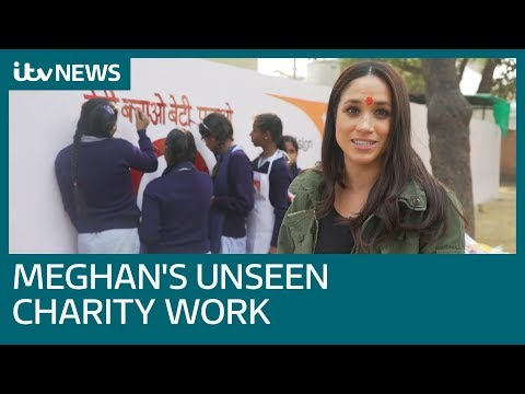 Meghan's India charity work revealed in new footage | ITV News