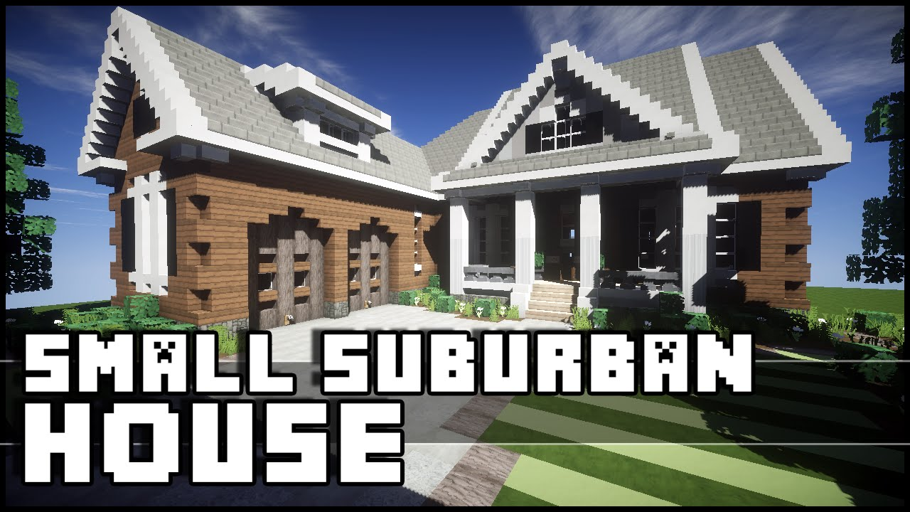 Minecraft small house tutorial keralis house plan 2017 for Suburban house plans