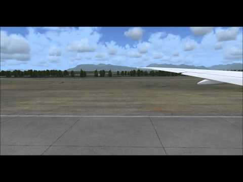 Korean air 072 Vancouver to Seoul with various views and cabin announcement,fsx,pmdg 777