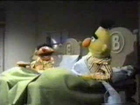 Bert and Ernie Cookies in Bed