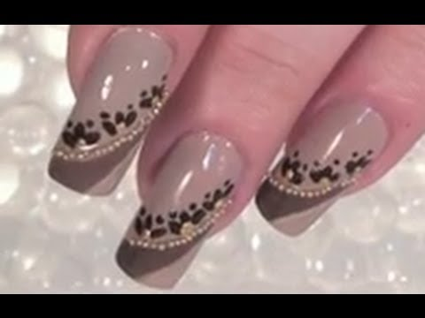 Full Cover Nail Art Design Tuorial In Nude Mit Miniperlen Youtube