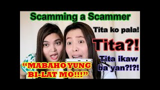 PINRANK NAMIN ANG SCAMMER (TITA KO PALA!)   Scamming a Scammer   Scammer Prank   Scambaiting