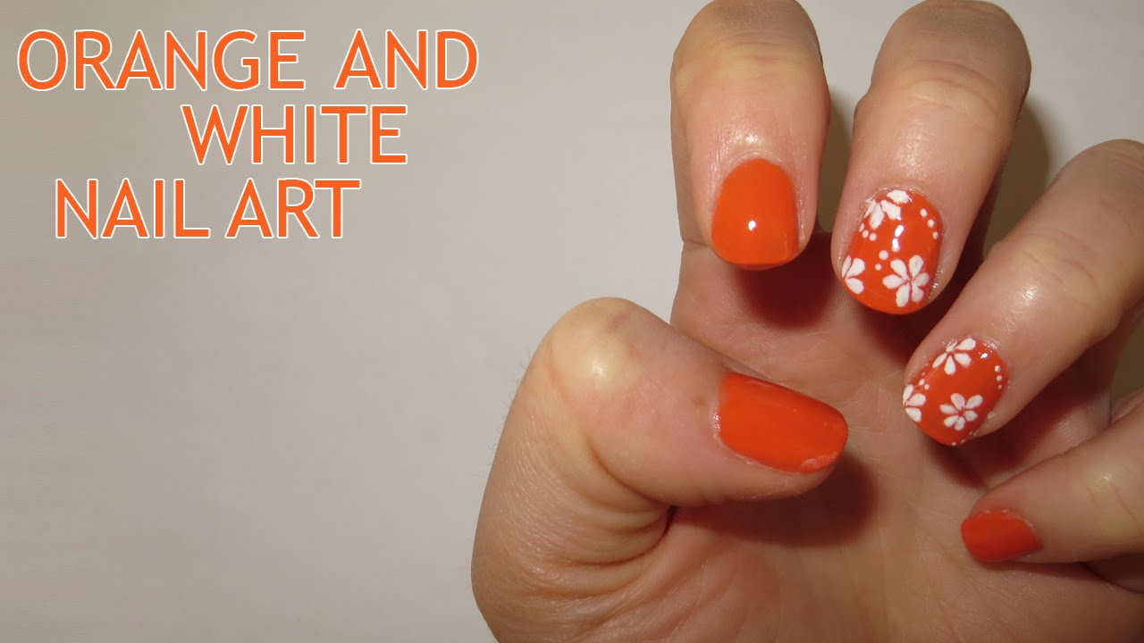 Nail Art Ideas Nail Art In Orange Pictures Of Nail Art Design Ideas