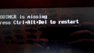 Исправление ошибки BOOTMGR is missing press Ctrl+Alt+Del