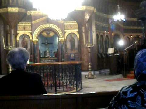 Inside the Church of St. George in Coptic Cairo