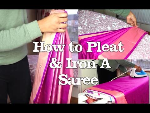 How to Pleat & Iron a Saree (Prep) Tutorial   Thuri Makeup