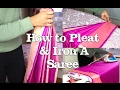 How to Pleat & Iron a Saree (Prep) Tutorial | Thuri Makeup