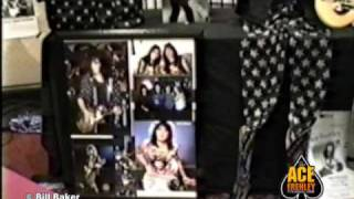 Ace Frehley and KISS memorabilia from the Bill Baker Ace Frehley Archive Museum displays 1990