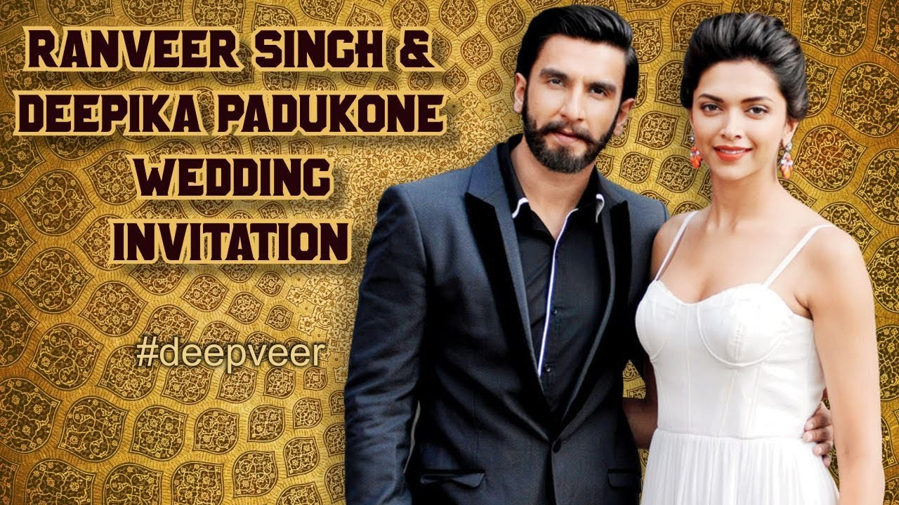 Deepika Ranveer Wedding Card || Ranveer Deepika Wedding ...