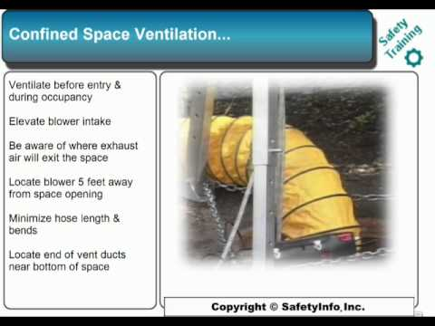 Confined Space Entry - Safety Training Video Course - SafetyInfo.com