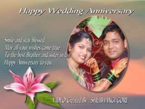 Happy wedding anniversary to bhaiya & bhabhi youtube