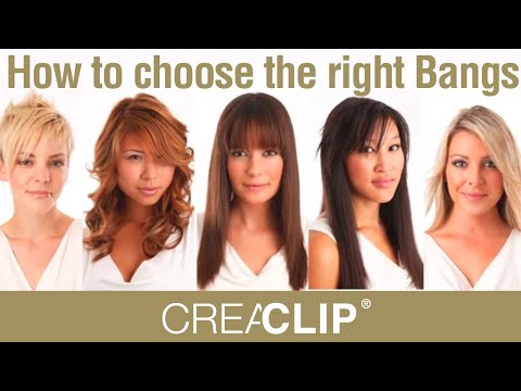 How to choose the right Bangs for your face shape - YouTube