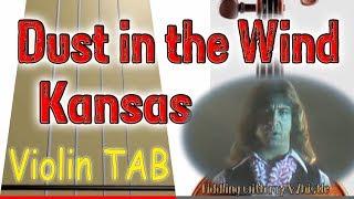 Dust in the Wind - Kansas - Violin - Play Along Tab Tutorial