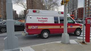 FDNY Fire Family Transport 24 Rolling Through Harlem In Manhattan, New York
