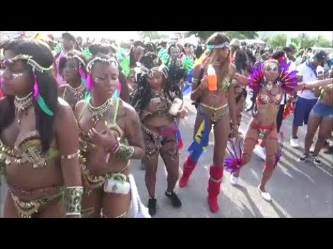 MIAMI WEST INDIAN CARNIVAL 2018 - CARIBBEAN ISLANDS GIRLS MUSIC DANCE PARTY PARADE AT MIAMI CARNIVAL