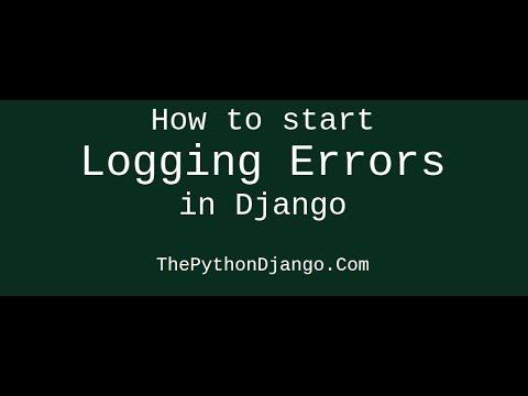 Logging error logs in files in django, debugging on production servers : thepythondjango.com