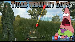 SOLO!  Mr. Cupu Savage!  Pakai jubah kamuflase Guys' Rules of Survival Ghillie Suit!