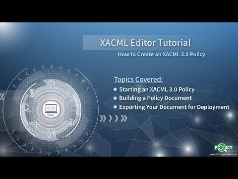 XACML Editor: Creating An XACML 3.0 Policy