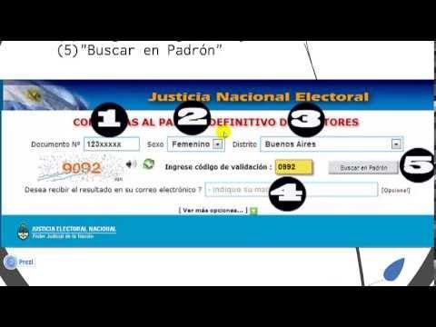Elecciones: Ya se puede consultar el padrón provisorioиз YouTube · Длительность: 2 мин7 с