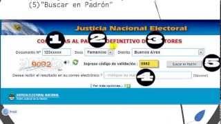 ARGENTINA: Consultá los Padrones Electorales(DONDE VOTO) 2013