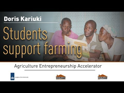 Students support farming
