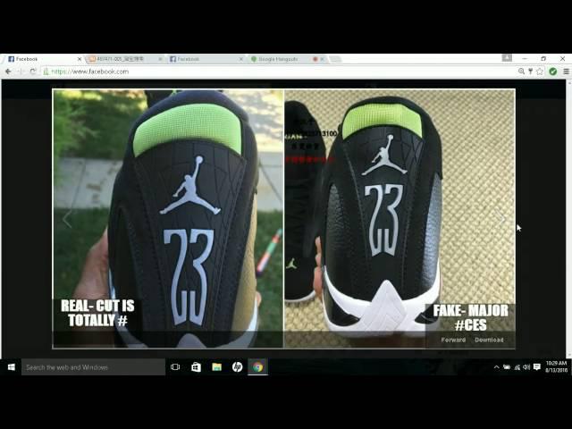 83ad71fd5aba46 Real VS Fake Air Jordan 14 Retro Indiglo