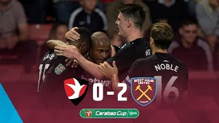 Highlights: cheltenham town 0-2 west ham united ⚽️