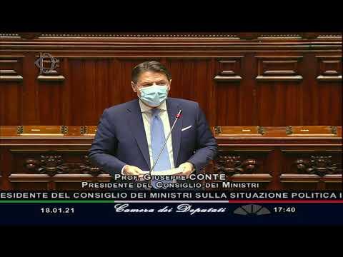 Comunicazioni alla Camera, la replica del Presidente Conte