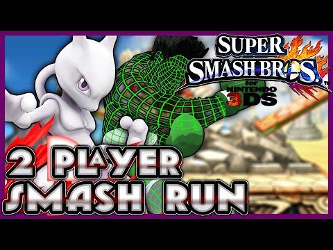 Super Smash Bros. for 3DS - Smash Run: MEWTWO! (2 Player)