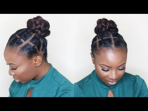 AFRICAN THREADING UPDO ON SHORT NATURAL HAIR | Tondie Phophi
